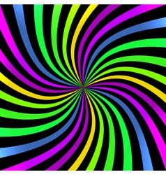 Colorful Bright Spiral background logo design elem vector image