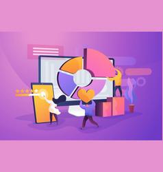 Customer relationship management flat vector