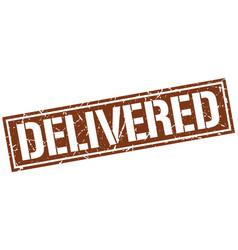 Delivered square grunge stamp vector