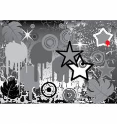 design elements on grunge background vector image