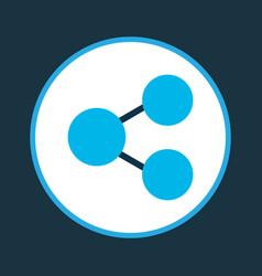 diagram icon colored symbol premium quality vector image