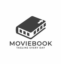 Documentary movies logo designs vector