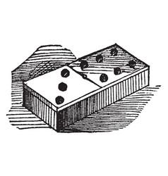 Domino vintage vector