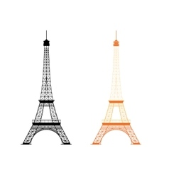 Eiffel tower - famous monument in Paris France vector image