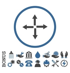Expand Arrows Flat Rounded Icon With Bonus vector