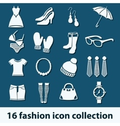 Fashion icons vector