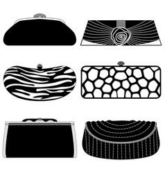 Female bag handbag purse fashion woman a set vector