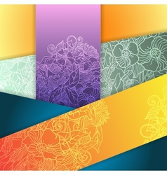 floral abstract squares background vector image