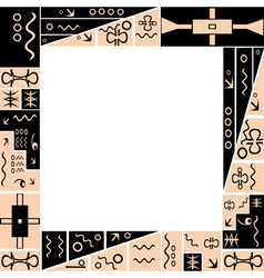 frame with African tribal ornaments vector image