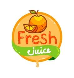 Fresh juice emblem 3 vector