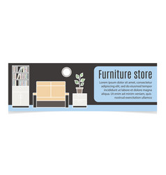furniture horizontal banner with sofa vector image