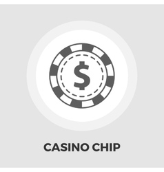 Gambling chips flat icon vector