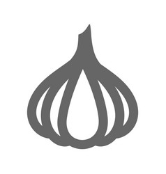 garlic outline icon vegetable vector image
