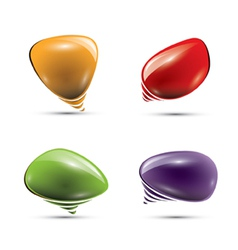 Glossy speech bubbles or balloons vector image