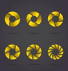 Golden segmented circles vector image