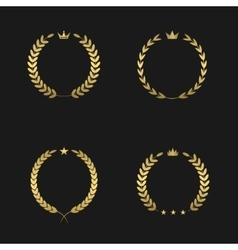 Golden wreath set vector image