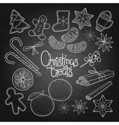 Graphic christmas treats vector
