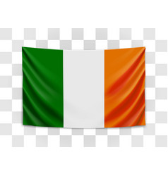 hanging flag ireland ireland national flag vector image