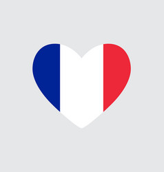 heart in colors of the france flag vector image