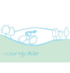 I love my bike card vector