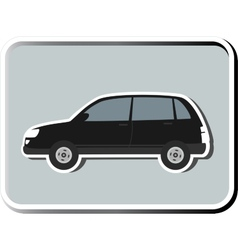 Icon with isolated SUV vector