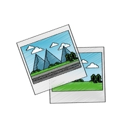 Isolated picture of landscape design vector