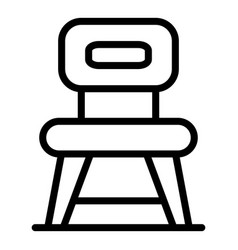kitchen chair icon outline style vector image