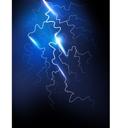 Lightning in the night sky vector