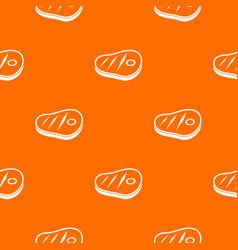 meat steak pattern seamless vector image