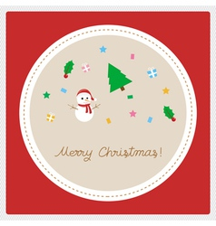 Merry Christmas greeting card22 vector image