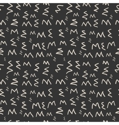 Modern seamless pattern of zigzag monochrome vector