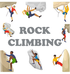 Mountain climbing climbers vector