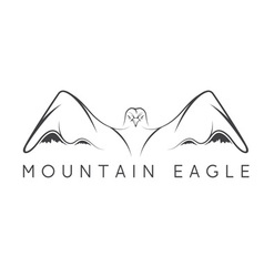 mountain eagle design template vector image
