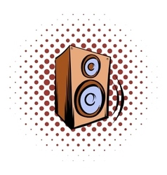 Music speaker icomics icon vector image