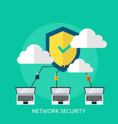 network security conceptual design vector image
