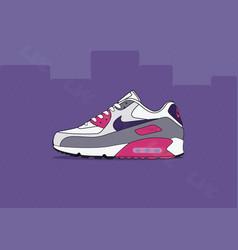 Nike air max 90 laser pink vector
