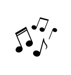 note music icon design vector image