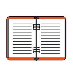 Notebook open vector