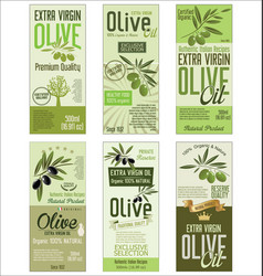 Olive oil retro green background collection vector