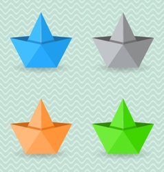 Paper origami boats vector image
