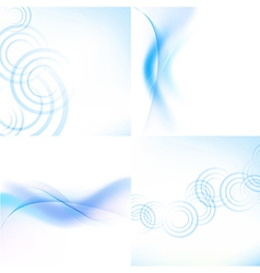 Pastel Blue Backgrounds Set vector image vector image