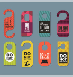 Please do not disturb hotel door quiet motel vector