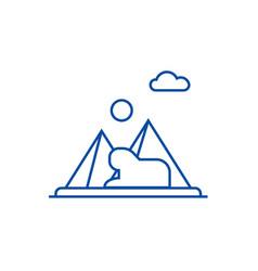 pyramidsegypt line icon concept pyramidsegypt vector image