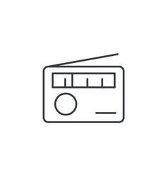 radio receiver station thin line icon linear vector image