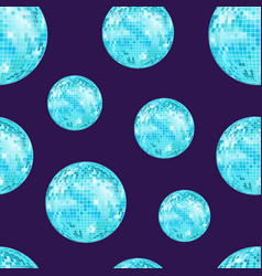 realistic detailed disco ball seamless pattern vector image