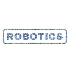 Robotics textile stamp vector