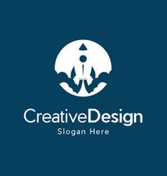 Rocket future aviation creative business logo vector