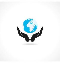 Save earth concept vector