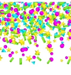 Seamless pattern with colourful sparlking confetti vector image