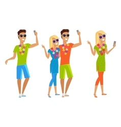 Selfie on Summer Vacation vector image